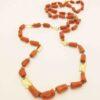 collana lunga in corallo rosso