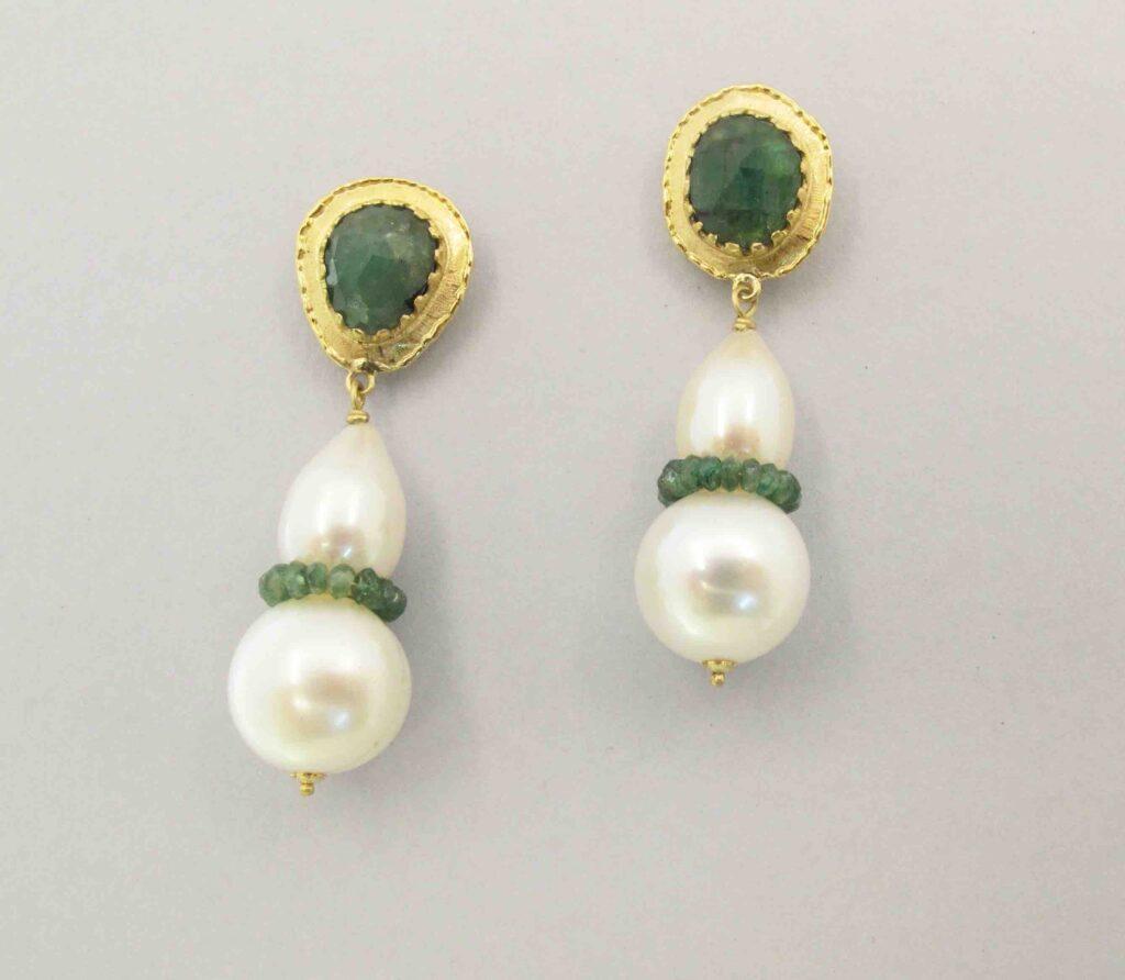 Orecchini oro e smeraldi