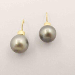 "Orecchini in oro e perle Tahiti ""BOMBA"""