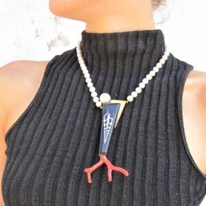 """Girocollo perle e corallo """"MAREE"""""""